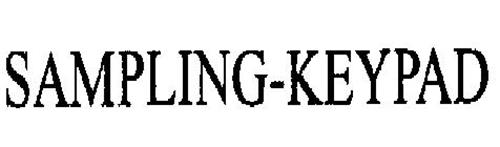 SAMPLING-KEYPAD