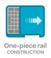 ONE-PIECE RAIL CONSTRUCTION