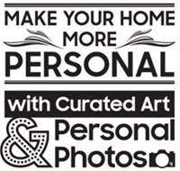 MAKE YOUR HOME MORE PERSONAL WITH CURATED ART & PERSONAL PHOTOS