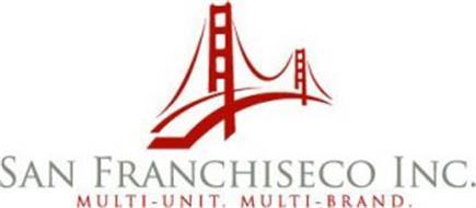 SAN FRANCHISECO INC. MULTI-UNIT. MULTI-BRAND.