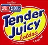 TENDER JUICY HOTDOG SAN MIGUEL PUREFOODS ORIGINAL ARTIFICIALLY COLORED