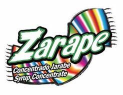 ZARAPE CONCENTRADO JARABE SYRUP CONCENTRATE