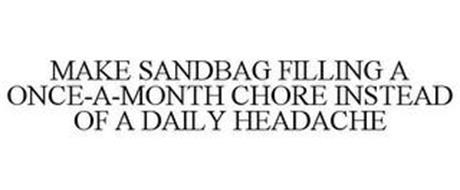 MAKE SANDBAG FILLING A ONCE-A-MONTH CHORE INSTEAD OF A DAILY HEADACHE