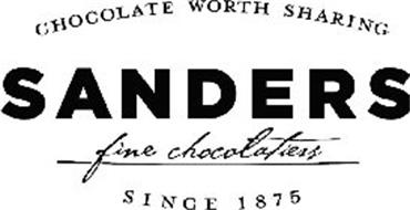 CHOCOLATE WORTH SHARING SANDERS FINE CHOCOLATIERS SINCE 1875