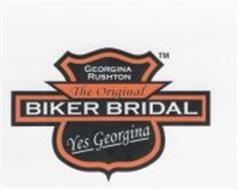 GEORGINA RUSHTON, THE ORIGINAL BIKER BRIDAL, YES GEORGINA