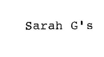 SARAH G'S