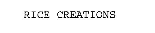 RICE CREATIONS