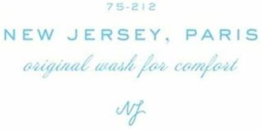 75-212 NEW JERSEY, PARIS ORIGINAL WASH FOR COMFORT NJ