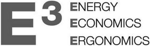 E 3 ENERGY ECONOMICS ERGONOMICS