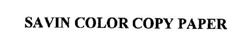 SAVIN COLOR COPY PAPER