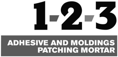 1-2-3 ADHESIVE AND MOLDINGS PATCHING MORTAR