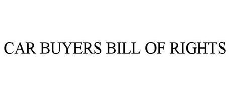 CAR BUYERS BILL OF RIGHTS