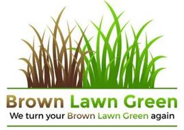 BROWN LAWN GREEN WE TURN YOUR BROWN LAWN GREEN AGAIN