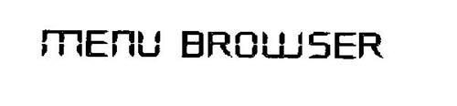 MENU BROWSER