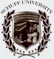 SCHUFF UNIVERSITY FAMILY · INTEGRITY · SAFETY CUSTOMER SATISFACTION