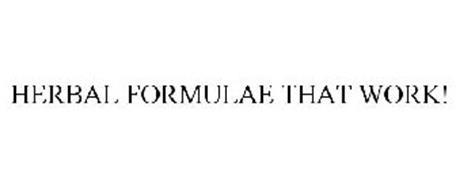 HERBAL FORMULAE THAT WORK!