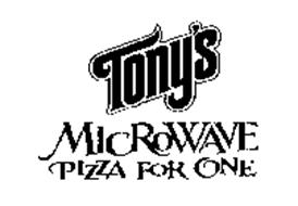 TONY'S MICROWAVE PIZZA FOR ONE