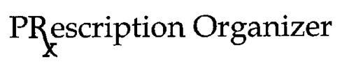 PRXESCRIPTION ORGANIZER