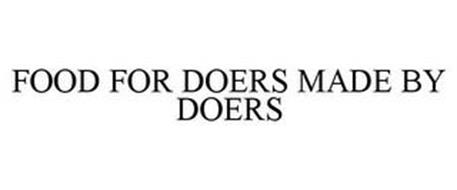 FOOD FOR DOERS. MADE BY DOERS.