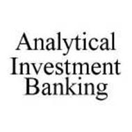 ANALYTICAL INVESTMENT BANKING