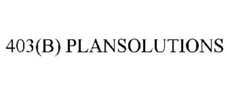 403(B) PLANSOLUTIONS