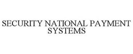 SECURITY NATIONAL PAYMENT SYSTEMS