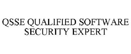 QSSE QUALIFIED SOFTWARE SECURITY EXPERT