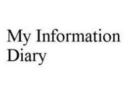 MY INFORMATION DIARY