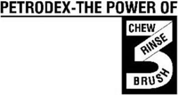 PETRODEX-THE POWER OF 3 CHEW RINSE BRUSH