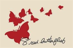 8 RED BUTTERFLIES