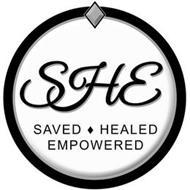 SHE SAVED HEALED EMPOWERED