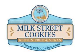 "MILK STREET COOKIES GLUTEN FREE & VEGAN MILKSTREETCOOKIES.COM ""A NANTUCKET SWEET SPOT"" MILK STREET COOKIES ESTABLISHED 2016"