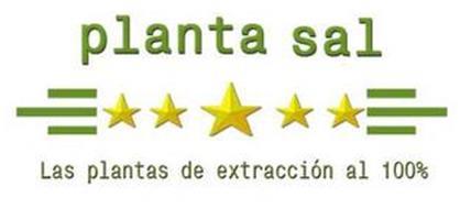 PLANTA SAL LAS PLANTAS DE EXTRACCIOÓN AL 100%