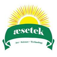 AESETEK ART · SCIENCE · TECHNOLOGY