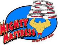 MIGHTY MATTRESS WE GOT YOUR BACK LOWEST PRICES NAME BRANDS SAME DAY DELIVERY SATISFACTION GUARANTEED