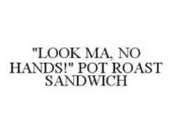 """LOOK MA, NO HANDS!"" POT ROAST SANDWICH"