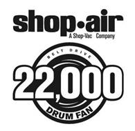 SHOP·AIR A SHOP-VAC COMPANY BELT DRIVE 22,000 DRUM FAN