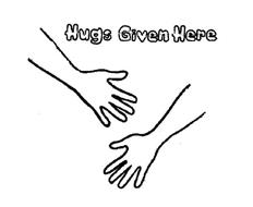 HUGS GIVEN HERE