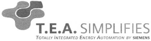 T.E.A. SIMPLIFIES TOTALLY INTEGRATED ENERGY AUTOMATION BY SIEMENS