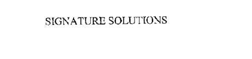 SIGNATURE SOLUTIONS