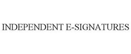 INDEPENDENT E-SIGNATURES