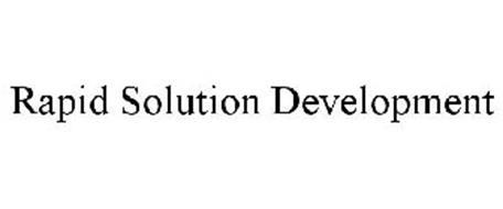 RAPID SOLUTION DEVELOPMENT