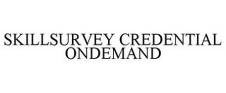 SKILLSURVEY CREDENTIAL ONDEMAND