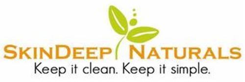 SKINDEEP NATURALS KEEP IT CLEAN. KEEP IT SIMPLE.
