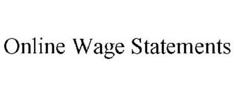ONLINE WAGE STATEMENTS