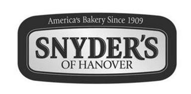 AMERICA'S BAKERY SINCE 1909 SNYDER'S OF HANOVER