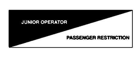 JUNIOR OPERATOR PASSENGER RESTRICTION