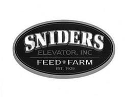 SNIDERS ELEVATOR, INC FEED FARM EST. 1929