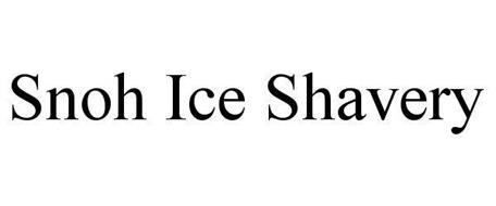 SNOH ICE SHAVERY