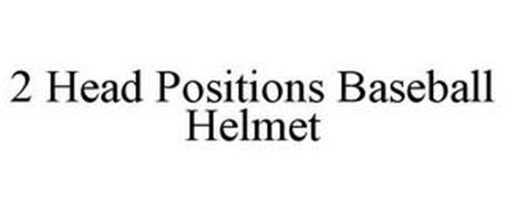 2 HEAD POSITIONS BATTING HELMET